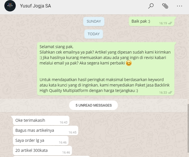 Jasa Update Konten